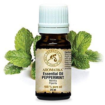 100% aceite de menta natural, oz fl 1 (30 ml) - Cococare
