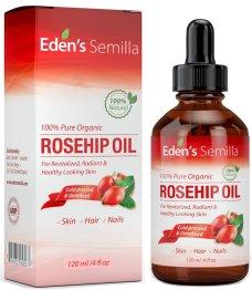 Aceite de Rosa Mosqueta (120ml). Aceite orgánico certificado. Prensado en frío y sin refinar. 100% puro y natural