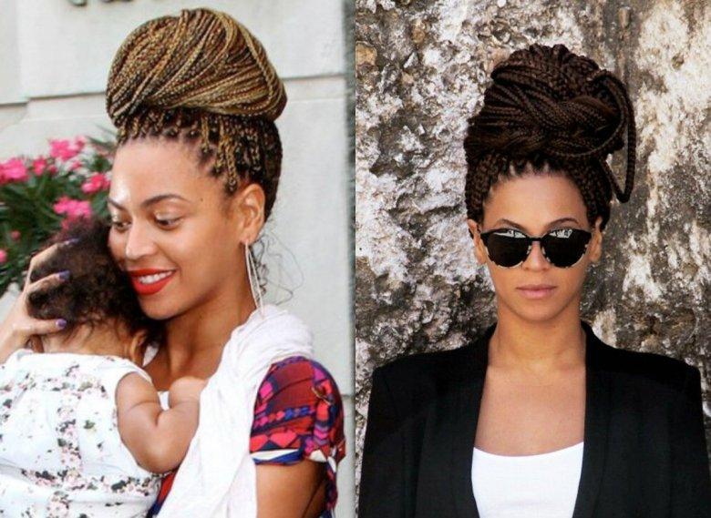 Beyonce-box-braids-bun